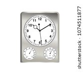 clock icon in flat style  air... | Shutterstock .eps vector #1074511877