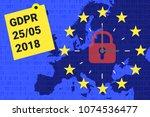gdpr   general data protection... | Shutterstock .eps vector #1074536477