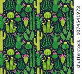 vector seamless pattern with... | Shutterstock .eps vector #1074541973