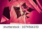 polygonal red background....   Shutterstock . vector #1074566153