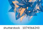 polygonal blue background....   Shutterstock . vector #1074566243
