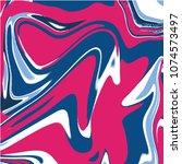 marbel fluid liquid vector... | Shutterstock .eps vector #1074573497