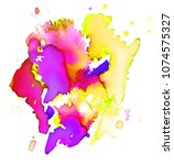colorful abstract watercolor... | Shutterstock .eps vector #1074575327