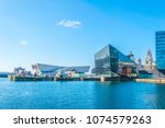 waterside of liverpool... | Shutterstock . vector #1074579263