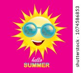 vector hello summer creative...   Shutterstock .eps vector #1074586853