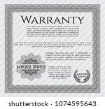 grey warranty template. gogrey... | Shutterstock .eps vector #1074595643