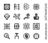 artificial intelligence ai icon ...   Shutterstock .eps vector #1074630143