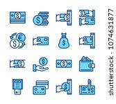 money line icons. modern... | Shutterstock .eps vector #1074631877