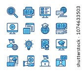 e learning line icons.... | Shutterstock .eps vector #1074633503