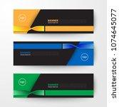 modern geometrics banners web... | Shutterstock .eps vector #1074645077