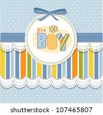 baby boy announcement card | Shutterstock .eps vector #107465807