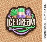 vector logo of italian ice... | Shutterstock .eps vector #1074715187