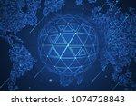 global network security.... | Shutterstock .eps vector #1074728843
