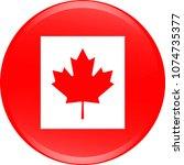 canada flag icon vector outline ... | Shutterstock .eps vector #1074735377