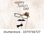 happy fathers day template... | Shutterstock .eps vector #1074736727