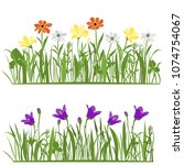 spring and summer forest and... | Shutterstock .eps vector #1074754067