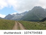 Small photo of ARKHYZ, KARACHAY-CHERKESS REPUBLIC / RUSSIA - 21 AUGUST 2013: Sophia Valley and Sophia Glacier are the most beautiful and popular tourist destinations in the Karachay-Cherkess Republic