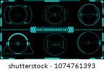 hud futuristic elements... | Shutterstock .eps vector #1074761393
