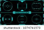 hud futuristic elements... | Shutterstock .eps vector #1074761573