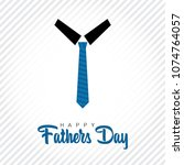 happy fathers day greeting card ... | Shutterstock .eps vector #1074764057
