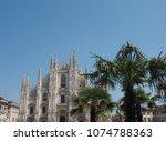 duomo di milano  meaning milan... | Shutterstock . vector #1074788363
