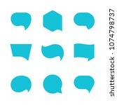 vector dialog speech bubbles ... | Shutterstock .eps vector #1074798737