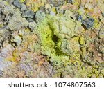 sulphur gas coming out of the... | Shutterstock . vector #1074807563
