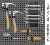vector  repair tool kit ... | Shutterstock .eps vector #1074807827