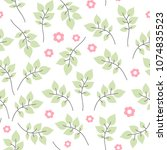 floral seamless pattern. hand... | Shutterstock .eps vector #1074835523