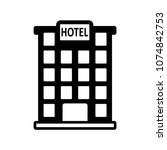 hotel icon isolated on white... | Shutterstock .eps vector #1074842753