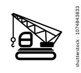 crane icon vector | Shutterstock .eps vector #1074843833