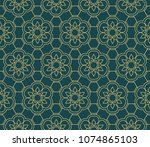 different color seamless retro... | Shutterstock .eps vector #1074865103