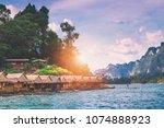 landscape of ratchaprapa dam... | Shutterstock . vector #1074888923