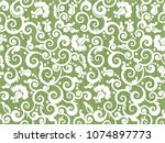 seamless vintage white and... | Shutterstock .eps vector #1074897773