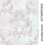 rococo pattern background... | Shutterstock .eps vector #1074899303