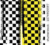 Grunge Checkered Racing...