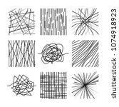 random chaotic asymmetrical... | Shutterstock .eps vector #1074918923