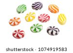candy lollipops isolated on...   Shutterstock . vector #1074919583