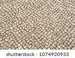stone pavement background on...   Shutterstock . vector #1074920933
