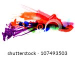 multicolor stain | Shutterstock . vector #107493503
