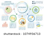 ecology template design. vector ... | Shutterstock .eps vector #1074936713