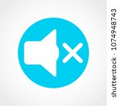 mute sound icon isolated on... | Shutterstock .eps vector #1074948743