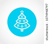 christmas tree icon isolated on ... | Shutterstock .eps vector #1074948797