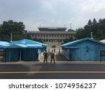 panmunjeom  dmz  south korea... | Shutterstock . vector #1074956237