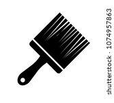 vector painting brush...   Shutterstock .eps vector #1074957863