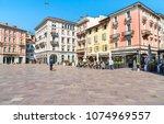 lugano  ticino  switzerland  ... | Shutterstock . vector #1074969557