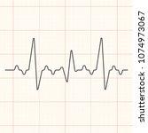 black cardiogram line...   Shutterstock .eps vector #1074973067