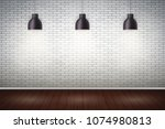 interior of white brick wall... | Shutterstock .eps vector #1074980813