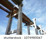 Small photo of Movable Scaffolding System (MSS) Underslung method of bridge construction