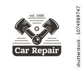 car repair  sign in vintage...   Shutterstock .eps vector #1074989747